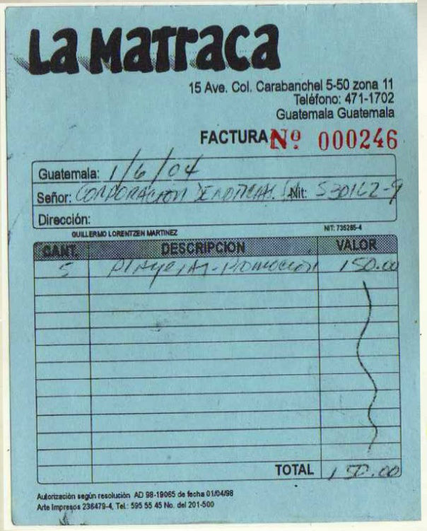 factura4 LA MATRACA