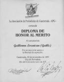 Diploma  Honor al Mérito APG